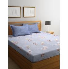 Orchid 250 cm x 274 cm Double Bedsheet, Blue