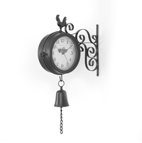 Doodle Station Clock - @home by Nilkamal, Black