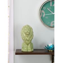 Small tropical Sitting Lion 20CM Showpiece, Green