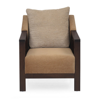 Chevy 1 Seater Sofa - @home by Nilkamal, Latte Brown