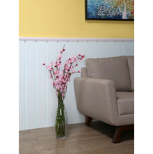 Tall Oriental Vase - @home By Nilkamal, Clear