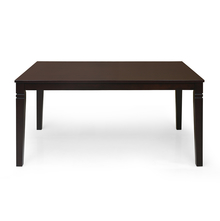 Fern 6 Seater Dining Table, Erin Brown