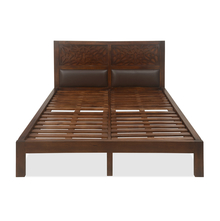 Lattice Queen Bed - @home by Nilkamal, Cherry