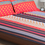 Arcade Heart 230 x 250 cm Double Bedsheet - @home by Nilkamal, Brown