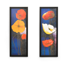 Floral Set of 2 Painting - @home by Nilkamal, Indigo