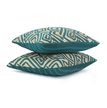 Geometric 40 x 40 cm Cushion Cover Set of 2 - @home by Nilkamal, Sea Green