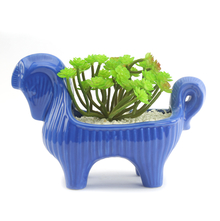 Horse Animal Potted Plant - @home by Nilkamal, Indigo