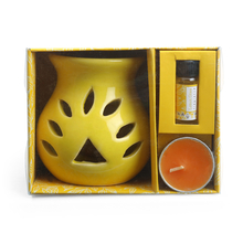 Lemon 8 ml Burner Set - @home by Nilkamal, Yellow