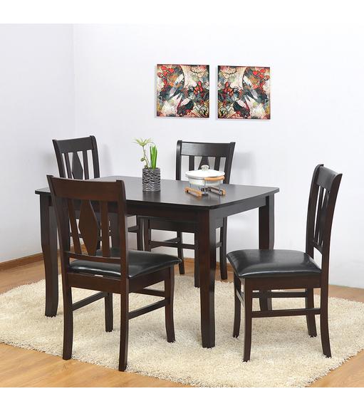 Malmo 4 Seater Dining Kit - @home Nilkamal,  brown