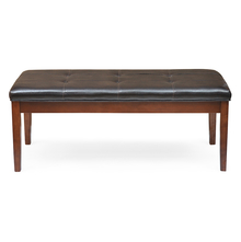 Jenn Dining Bench - @home by Nilkamal, beige with walnut