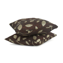 Leaf 30 x 30 cm Cushion Cover Set of 2 - @home by Nilkamal, Brown