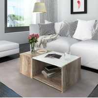 Vince Center Table - @home by Nilkamal, Dark Oak