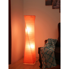 Twister Paper Floor Lamp, Orange