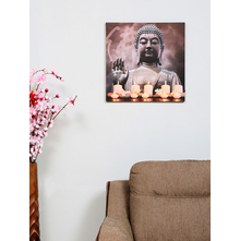 Blessing Buddha LED 50X50CM Picture Frame, Grey