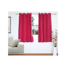 Opus 2 Pieces Window curtain 112X152CM, Rasberry