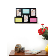 6 Wall Zigzag 46 cm x 31 cm x 2 cm Photo Frame - @home by Nilkamal, Black