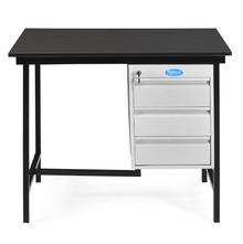 Nilkamal Zurina 3 Feet Office Table, Grey Beech
