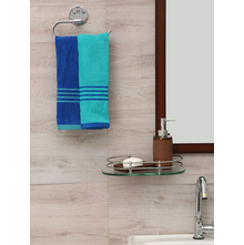 Hand Towel 40 x 60 cm Set of 2, Sea Green & Indigo