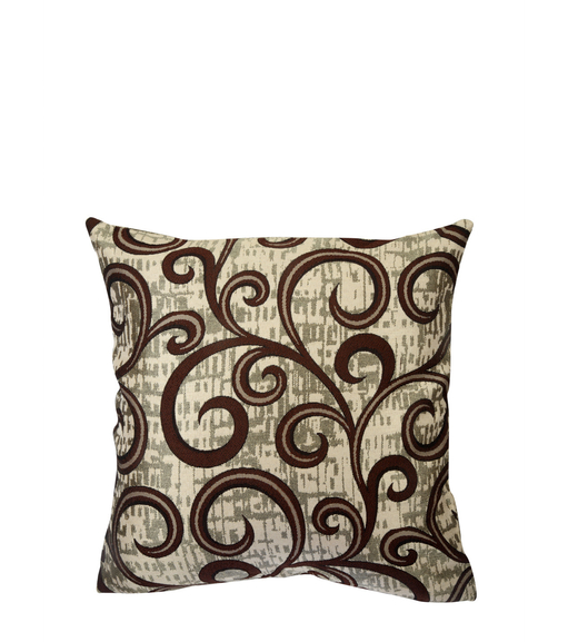 Scroll 40 cm x 40 cm Cushion Cover Set of 2 - @home by Nilkamal, Brown