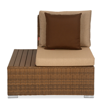 Rover 1 Seater Garden Sofa with Right Arm - @home by Nilkamal, Tan Brown