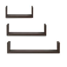 Triad Wall Shelf Set Of 3, Wenge