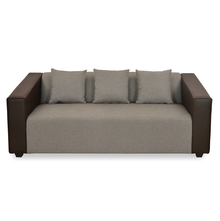 Diana 3 Seater Sofa - @home by Nilkamal, Dark Brown
