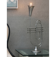 Trumpet Candle Holder, Silver