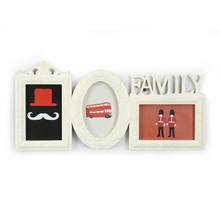 3 Family Cluster Collage Photo Frame - @home by Nilkamal, Cream
