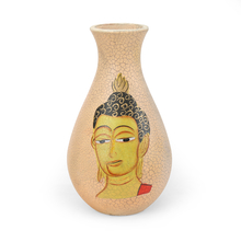 Floral Small Wooden Vase - @home by Nilkamal, Brown