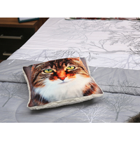 Cat 40X40CM Cushion Cover, Multicolor