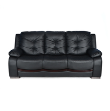 Debra 3 Seater Sofa PVC - @home By Nilkamal,  black