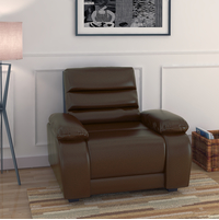 Beauty 1 Seater Sofa - @home by Nilkamal, Chocolate
