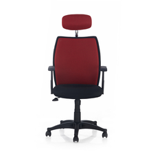 Nilkamal Blaze Highback Headrest Chair, Black & Red