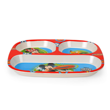 Mickey Rectangle 3 Section Dinner Plate - @home by Nilkamal, Multicolor