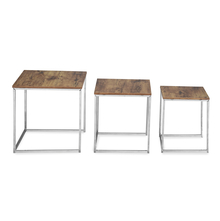 Maurice Nesting Table Set of 3 - @home by Nilkamal, Vintage Brown