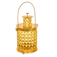 Urban Lantern Crystal Candle Stand - @home by Nilkamal, Yellow