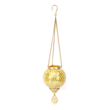 Pendant Hanging Votive - @home by Nilkamal, Yellow