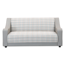 Plaid 3 Seater Sofa - @home by Nilkamal, Smoke Grey