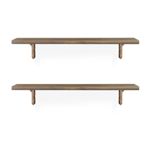 Romantic & Juan Medium Wall Shelf Set of 2 - @home by Nilkamal, Walnut