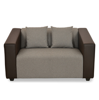 Diana 2 Seater Sofa - @home by Nilkamal, Dark Brown