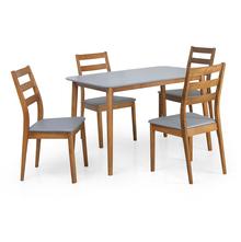 Kartell 4 Seater Dining Kit - @home by Nilkamal, Grey & Walnut