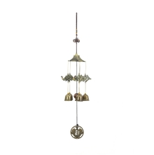 Hanging Peacock Garden Medium Windchime - @home by Nilkamal, Gold