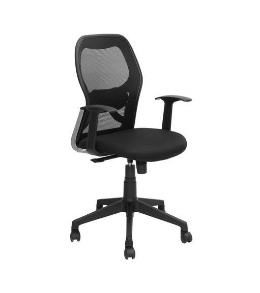 Nilkamal Matrix Mid Back Mesh Chair, Black