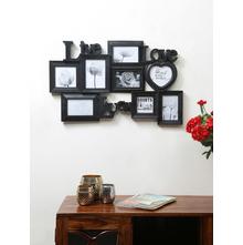 8 Wall Open 57 cm x 45 cm x 3 cm Photo Frame - @home by Nilkamal, Black