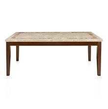 Jenn 8 Seater Dining Table - @home by Nilkamal, Beight & Walnut