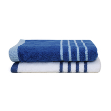 Hand Towel 40 x 60 cm Set of 2 - @home by Nilkamal, Indigo &White