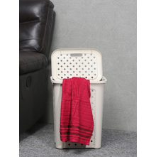 30 litre Laundry Basket with Lid, Beige