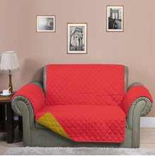3 Seater Reversible Sofa Cover 179 cm x 279 cm - @home by Nilkamal, Red & Yellow