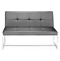 Nilkamal Inspira 2 Seater Sofa Without Handle,  black