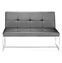 Nilkamal Inspira 2 Seater Sofa Without Handle,  black